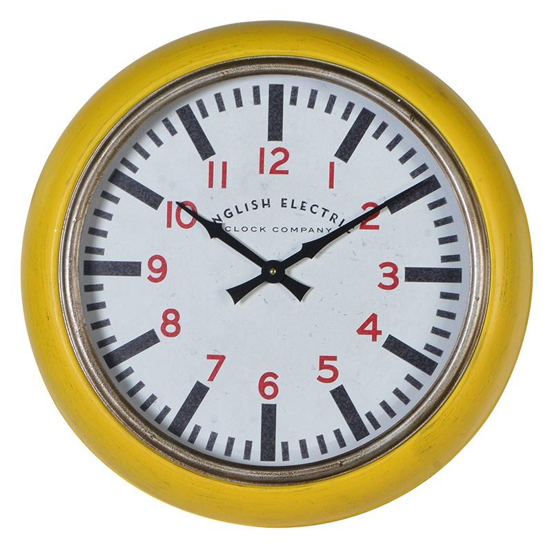 English Electric Mustard Clock