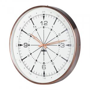 Antique Copper Finish Wall Clock