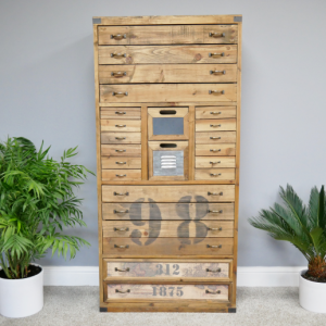 Industrial Tall Drawer Unit
