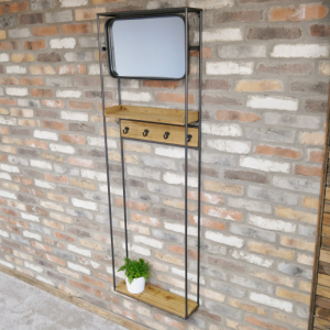 Industrial Mirrored Stand