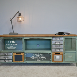 Industrial TV Cabinet & Drawers