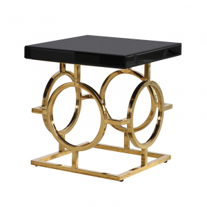 Gold and Black Occasional Table